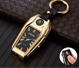 Đồng hồ nam đa năng sinh tồn (5 trong 1) đồng hồ, bật lửa điện, đèn pin, la bàn, móc khóa - MK đồng hồ thumbnail
