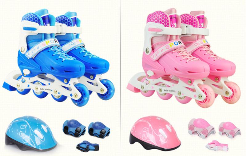 Phân phối Giày Patin Trẻ Em Tặng Mũ Và Đồ Bảo Hộ (5 đến 14 tuổi), Giày Trượt Patin Cho Bé Có Điều Chỉnh Size, Bảo Vệ Chân, Đầy Đủ Phụ Kiện – Chất Lượng Cao – Bảo Hành 1 Đổi 1