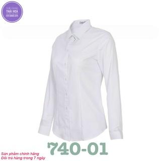 Áo sơ mi Thái Hòa màu trắng 740-01 thumbnail