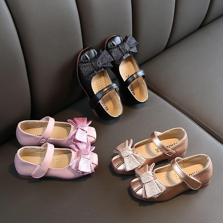 Giá bán Giày búp bê đính nơ phong cách Hàn Quốc cho bé gái từ 2 -13 tuổi G11