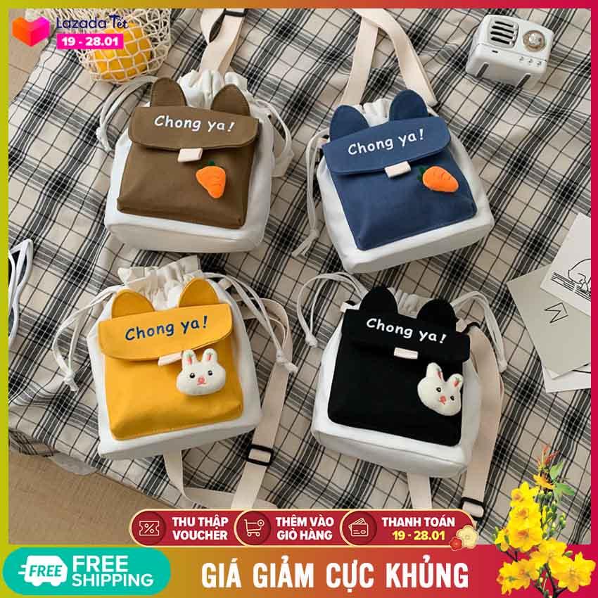 Túi đeo chéo nữ Chong ya phong cách Hàn Quốc (T1014), túi xách nữ thời trang phối màu rất dễ thương - Túi thời trang, túi vải đeo chéo, túi cute, túi xách đẹp, túi đeo vai - NASI Store