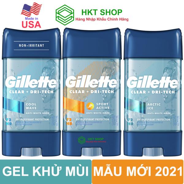 [USA] Lăn Khử Mùi Gillette Clear Gel 107g - HKT Shop giá rẻ