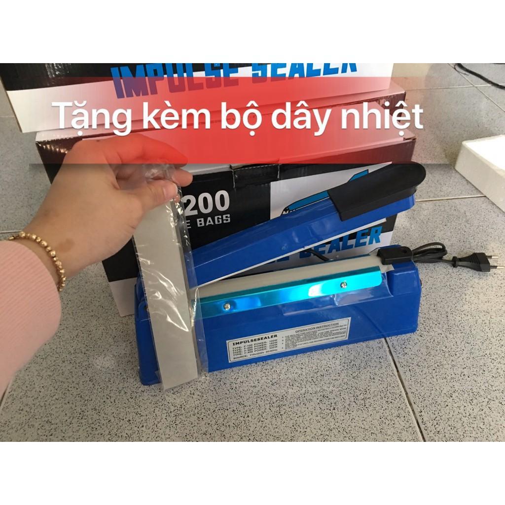 Máy hàn miệng túi dập tay PFS-200MM, máy ép miệng túi ni lông 20cm