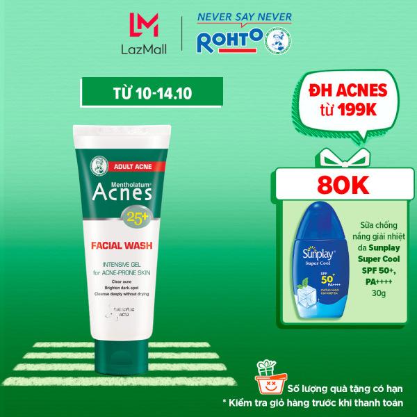 Gel rửa mặt ngăn ngừa mụn tuổi trưởng thành Acnes 25+ Facial Wash 100g giá rẻ