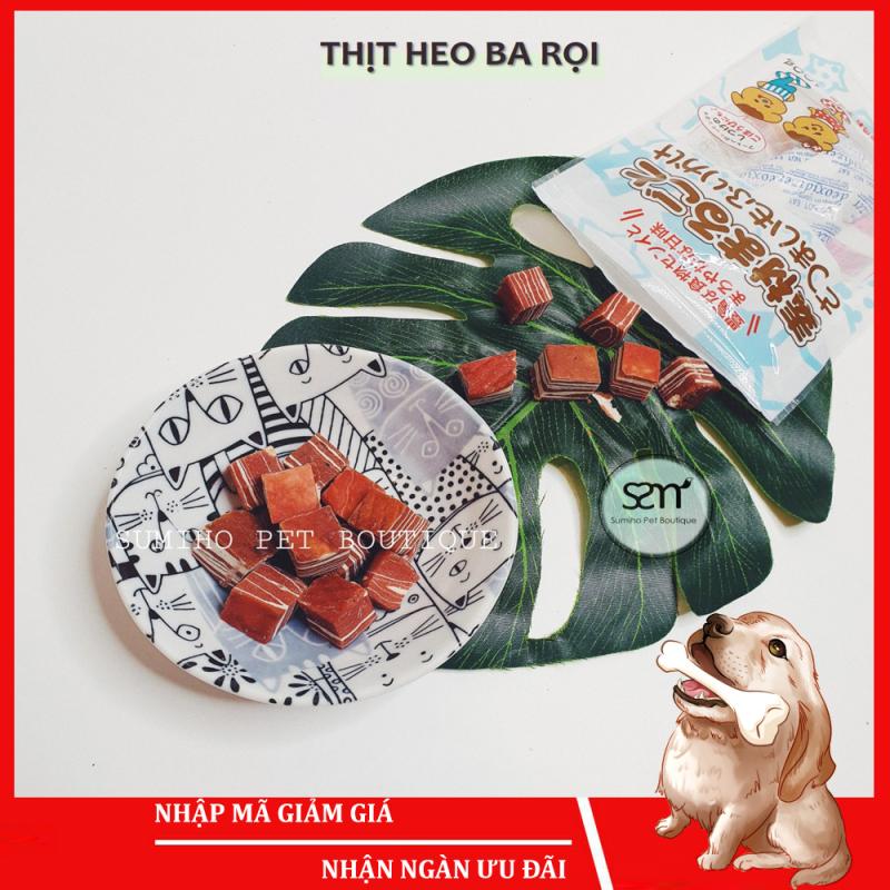 Bánh thưởng cho chó Sumiho (Ba rọi heo) (100gr/túi) Đồ ăn cho chó mèo thú cưng
