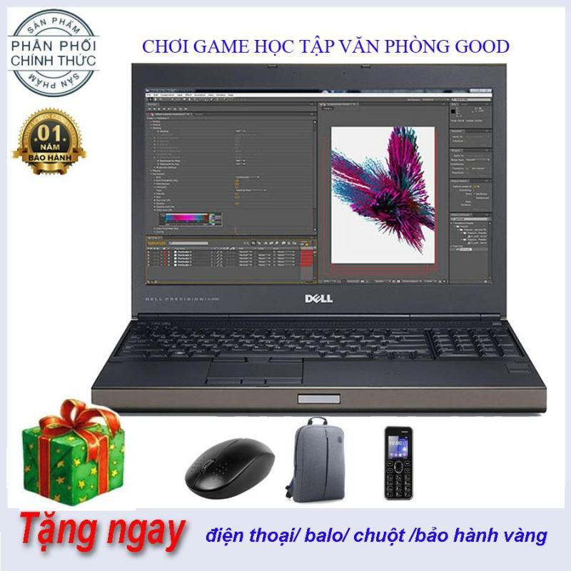 LAPTOP DELL PRECISION M4800 Chuyên đồ hoạ, Dựng phim, Render, Game nặng Core i7 4800MQ 8CPUS 8G/128G/500G- Hàng nhập khẩu Máy trạm Nhập Khẩu