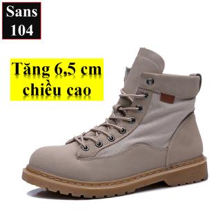Giày Boot Unisex Giày Cao Cổ-Trợ Phí Ship-Giày Tăng Chiều Cao Sans104 thumbnail