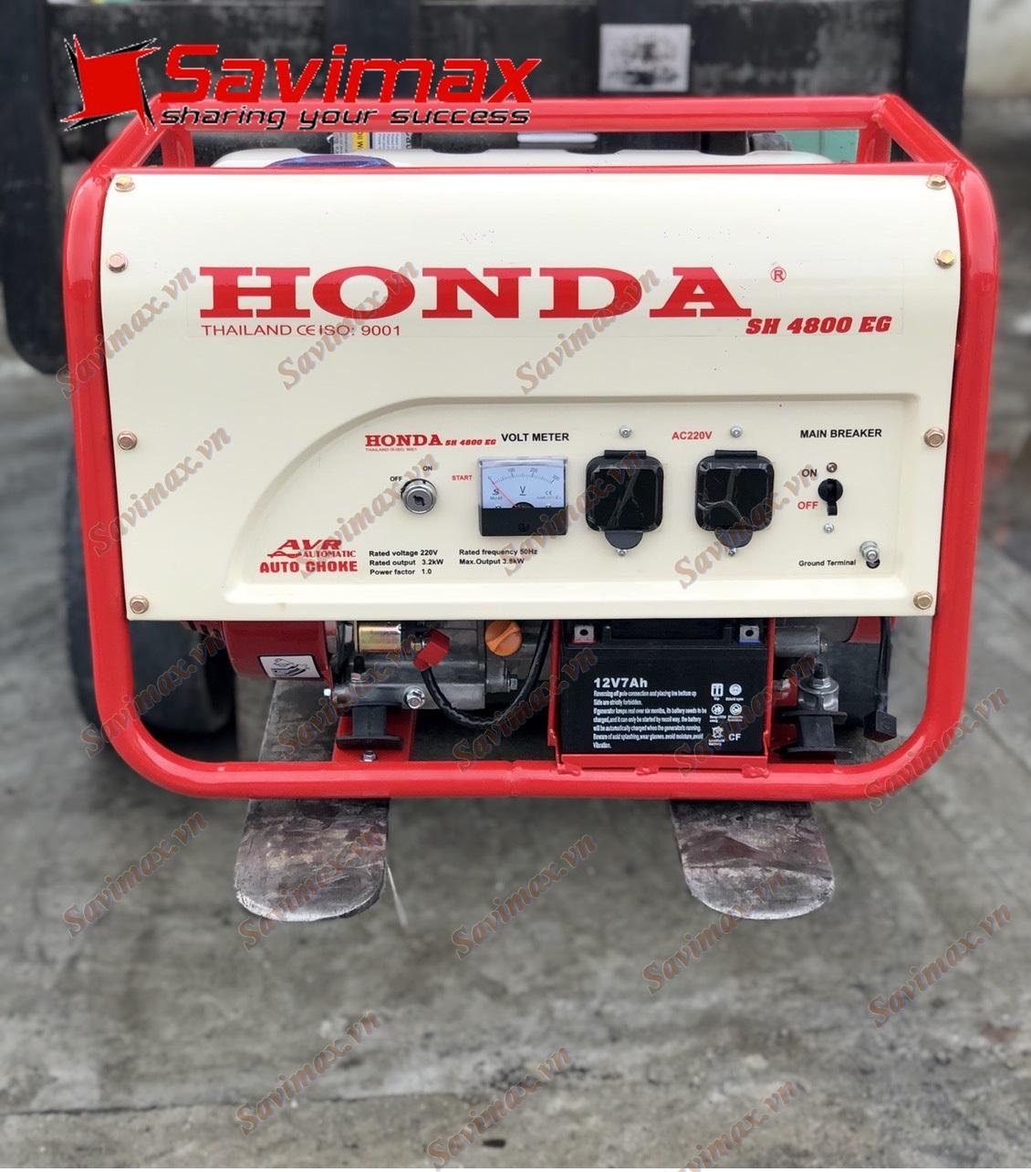 Máy phát điện 3.8kw chạy xăng Honda SH4800EG đề nổ nhập Thái