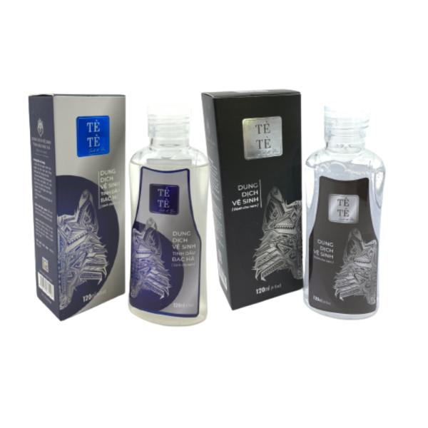 Combo 2 Dung dịch vệ sinh nam Tê Tê Men 120ml 1 chai Classic và 1 chai Bạc hà thư giãn, tăng hưng phấn, hết mùi môi và hết nấm ngứa khó chịu nhập khẩu