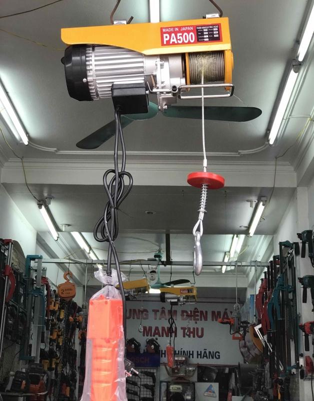 máy tời điện 500kg - máy tời treo