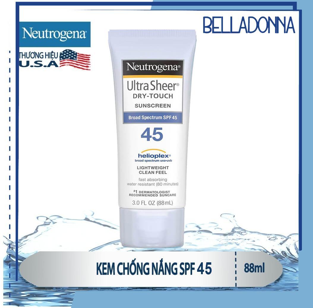 Kem Chống Nắng Toàn Thân Neutrogena Ultra Sheer Dry-Touch Sunscreen Spf 45 88Ml nhập khẩu
