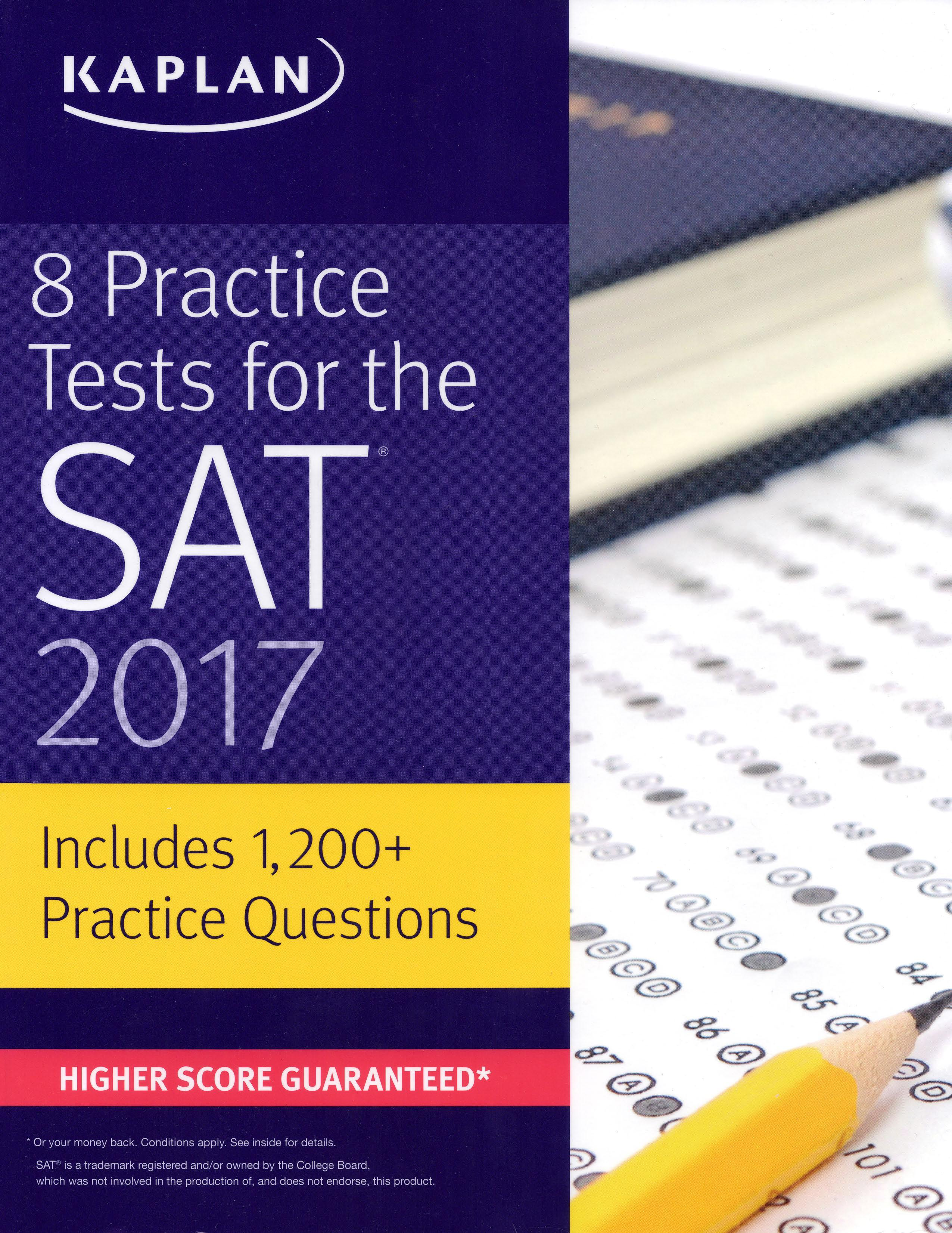 Mua 8 Practice Tests for the SAT 2017 by Kaplan