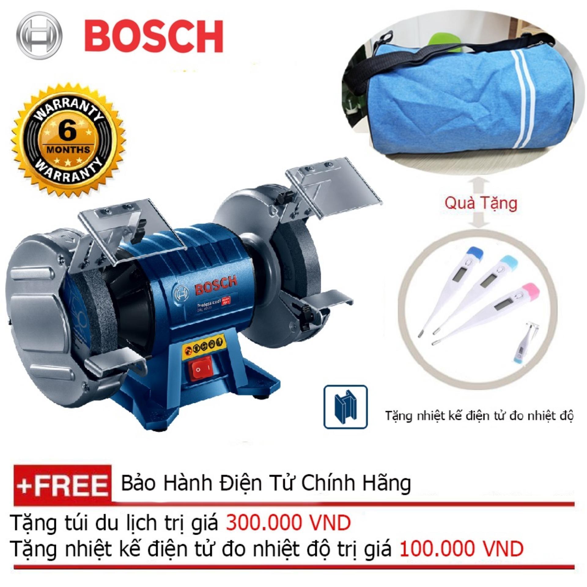 Máy mài bàn Bosch GBG 60-20 + Quà tặng balo du lịch