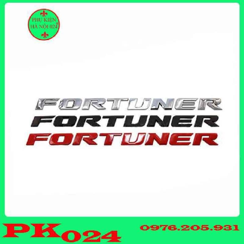 Tem Dán Capo, Logo Chữ Nổi Dán Capo 3D Cho Các Loại Xe - FORTUNER
