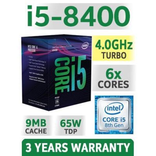 Bảng giá CPU Intel Core I5 8400 Box New 2.8Ghz Turbo Up To 4Ghz / 9MB / 6 Cores, 6 Threads / Socket 1151 V2 (Coffee Lake ) Phong Vũ