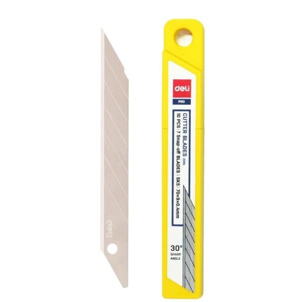 Mua 1 vỉ 10 Lưỡi dao rọc giấy nhỏ DELI 2015,lưỡi dao nhọn góc 30 độ,sắc bén,bền,đẹp