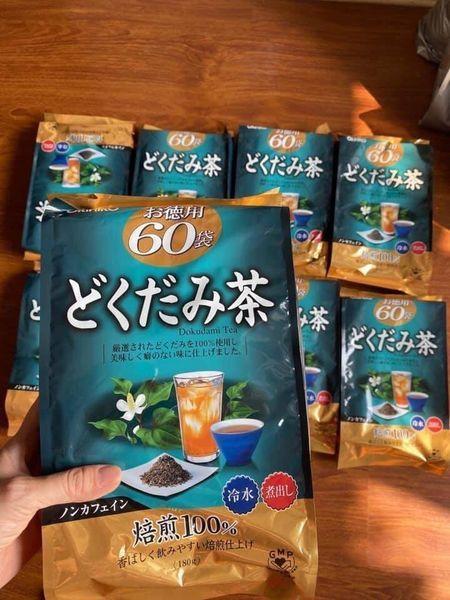 [CHÍNH HÃNG] Trà diếp cá Orihiro Nhật túi 60 gói Trà rau diếp cá thải độc Orihiro Nhật không chỉ giúp làm mát trong, thanh nhiệt, ngừa mụn nhọt mề đay, tốt cho sức khoẻ mà còn giúp làm đẹp da, giữ dáng, giảm cân rất hiệu quả nhập khẩ