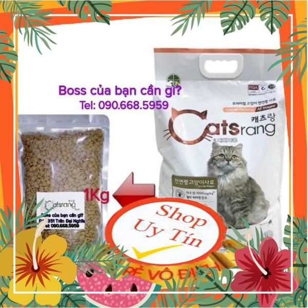 Thức ăn hạt cho mèo mọi lứa tuổi Catsrang (Túi zip bạc 1kg)