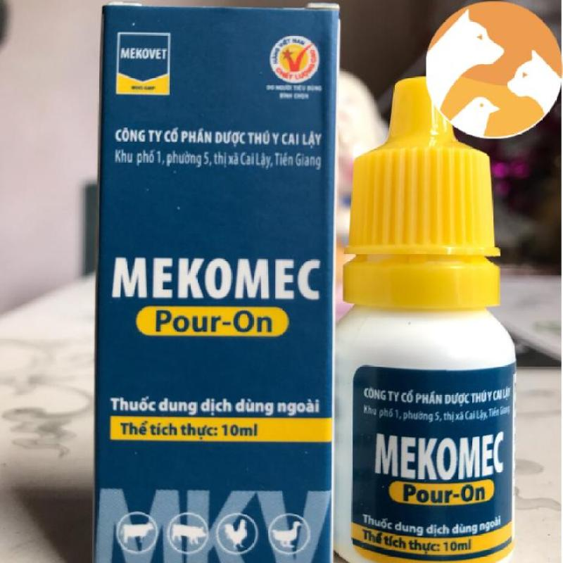 Com bo 3 lọ MEKOMEC bôi ngừa ve, rận, bọ chét, mạt,… trên chó, mèo [10 ml]
