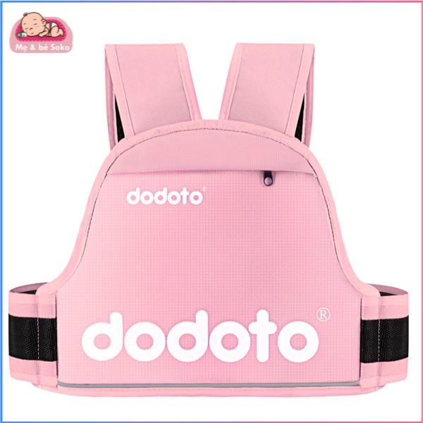 Đai đi xe máy cho bé từ 1-12 tuổi dodoto, địu ngồi xe máy cho bé chống ngã, đai ngồi xe máy đeo vai, thắt lưng, đai ngực - Mẹ bé Soko