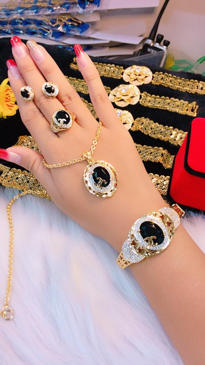 [ TRANG SỨC BỘ HOT 2019 DÙNG ĐI TIỆC - CAM KẾT KHÔNG ĐEN ] các kiểu trang sức đẹp | mẫu trang sức đẹp | bộ vàng trắng đẹp | vàng cưới đẹp | bộ vàng 18k đẹp | bộ trang sức đẹp thế giới | các mẫu trang sức đẹp | bạc đẹp | trang s�