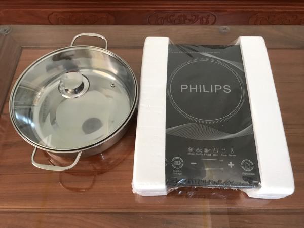 Bảng giá Bếp từ đơn cảm ứng Philips PL-T01 Công suất 2200W tặng nồi lẩu - ĐA LĨNH VỰC Điện máy Pico