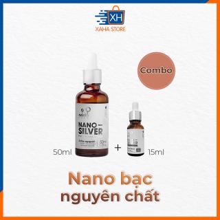 Combo 2 chai Nano bạc nguyên chất diệt khuẩn Nano silver Bạc tươi (Ag) - chai 50ml và 15ml thumbnail