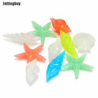 10 Viên đá dạ quang bằng nhựa nhiều màu sắc và kiểu dáng dùng trang trí bể cá - INTL thumbnail