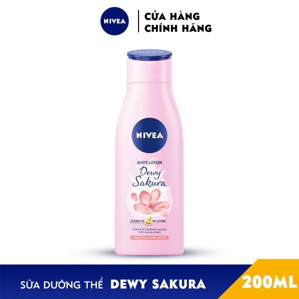 Sữa Dưỡng Thể Dưỡng Trắng Nivea Dewy Sakura (200ml) 85701 nhập khẩu
