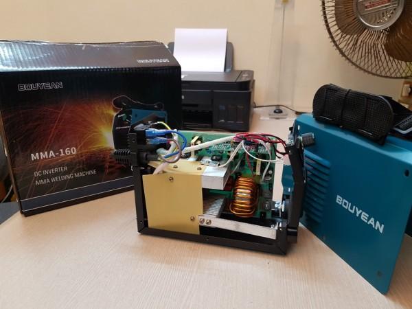Máy Hàn Tiết Kiệm Điện Inverter Bouyean MMA-160A, Tặng kính hàn và Chổi đánh xỉ