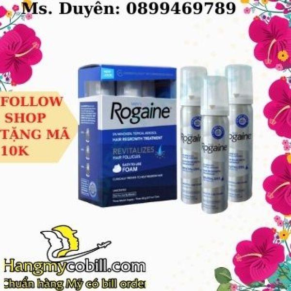 (có bill nhập)Mọc tóc nam Mens Rogaine Hair Regrowth Treatment Foam 60ml