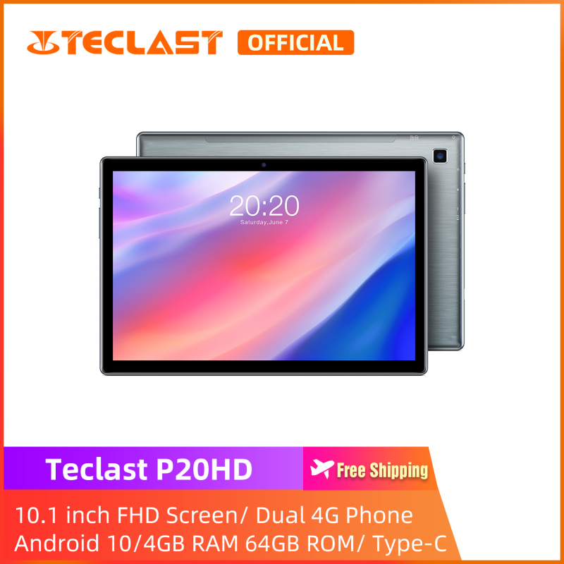 [ NEW ARRIVAL ] Máy tính bảng Teclast P20HD Tablet PC/ 10.1 inch FHD Screen/4GB RAM 64GB ROM/Dual SIM Card Phablet/Intalled film/ Android 10 /Type-C/1 year warranty
