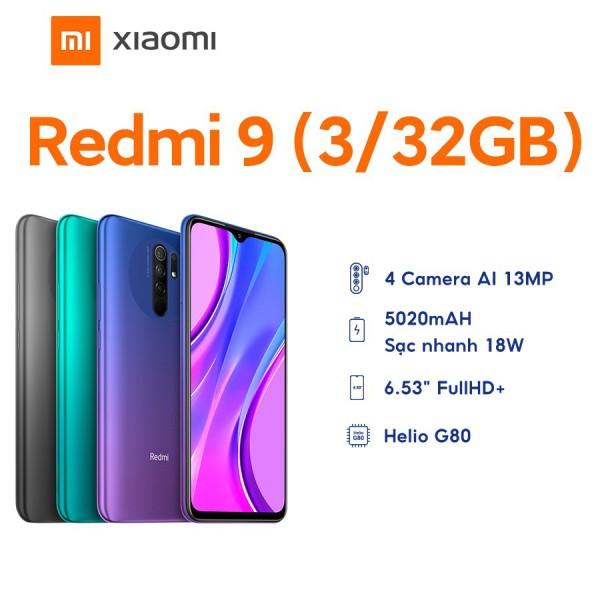 Điện Thoại Xiaomi Redmi 9 3GB/32GB - Hàng Chính Hãng