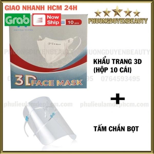 [HCM]Combo Khẩu Trang 3D Kèm Kính Chắn Giọt Bắn - Phòng Chống Dịch