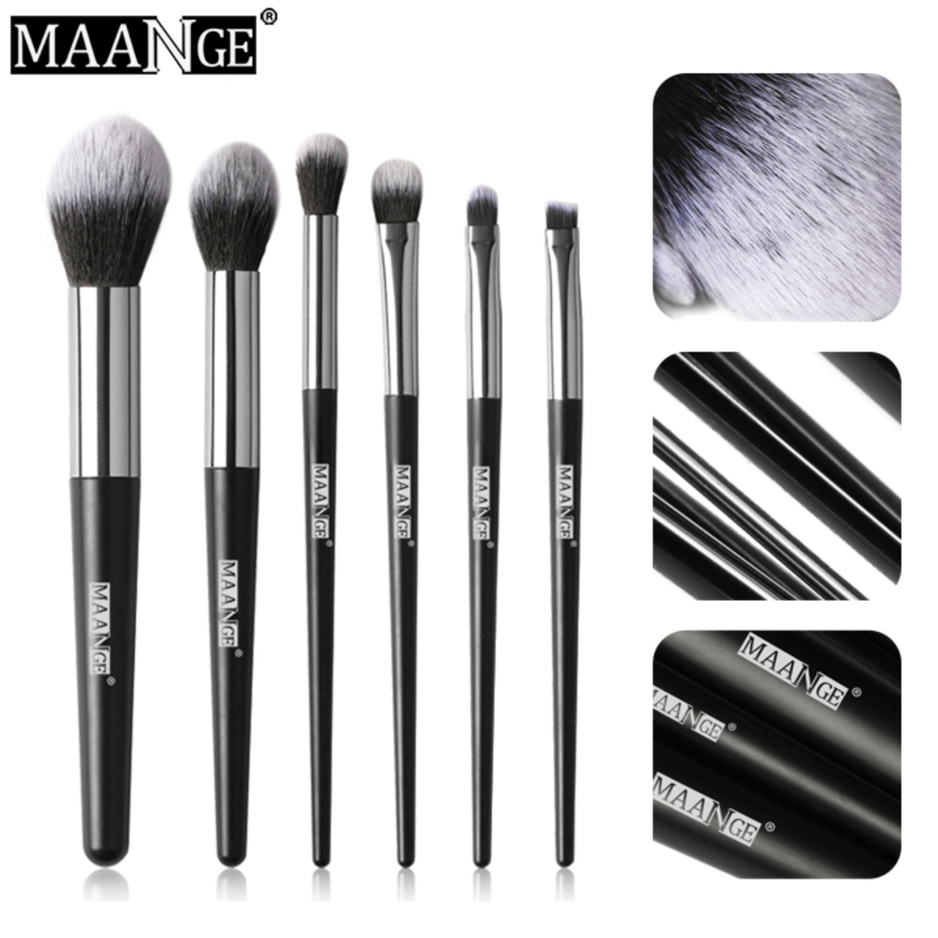 Bộ 6 Cọ Trang Điểm MAANGE Makeup Brushes Set Cọ Má Hồng Cọ Phủ Phấn Cọ Phấn Mắt Có Giá Siêu Tốt