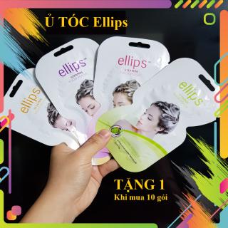 Mặt nạ ủ Ellips, dầu xả ellips hair mask nuôi dưỡng tóc giúp tóc phục hồi hư tổn giúp tóc đen mềm mượt, bồng bềnh óng ả thơm dịu thumbnail