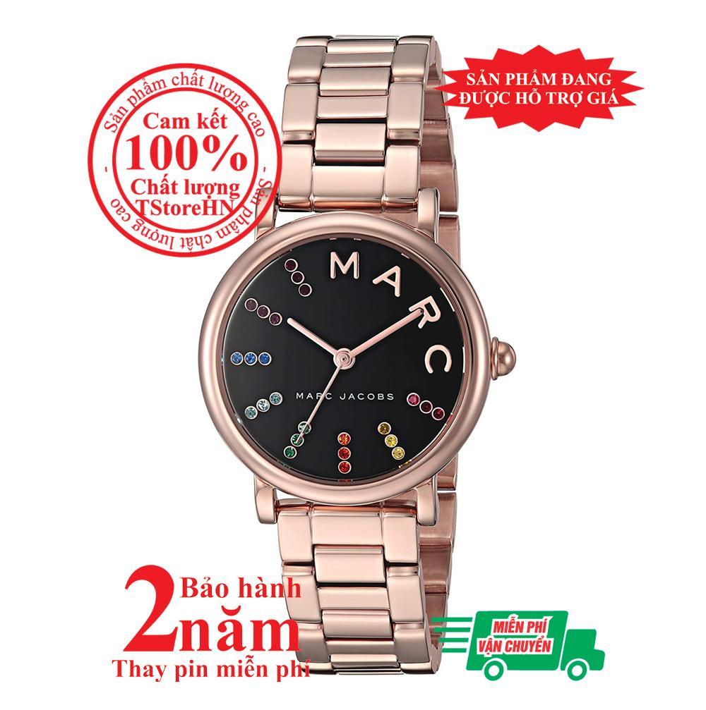 Đồng hồ nữ Marc Jacobs Roxy MJ3569, vỏ và dây đồng hồ màu Vàng hồng (Rose Gold), mặt Đen (Black), size 28mm - Item no: MJ3569 bán chạy