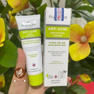 Kem dưỡng ẩm, kiểm soát dầu và điều tiết nhờn Floslek Anti Acne Mattifying Cream 50ml thumbnail