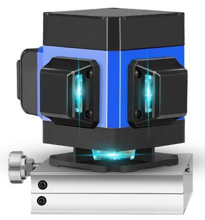 Máy cân bằng máy cân mực máy bắn cốt máy đo góc tia laser xanh điều khiển từ xa trong xây dựng căn chỉnh chính xác