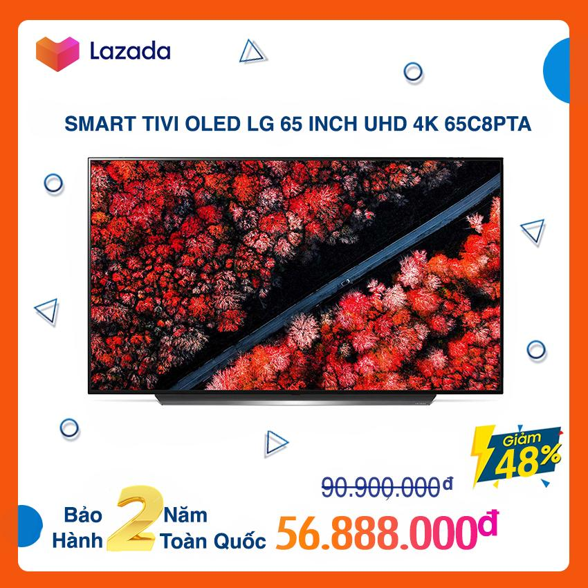 Smart Tivi OLED LG 65 inch Ultra HD 4K - Model 65C8PTA (Đen) (Có Magic Remote) NEW 100%