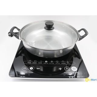 Bếp từ đơn Hitachi model DH-15T7 (màu đen) siêu bền, Bếp điện, Bếp từ, Bếp điện từ, Bếp lẩu, Bếp từ bền, Bếp từ chất lượng, Bếp từ tốt (Tặng kèm lồi nẩu) thumbnail