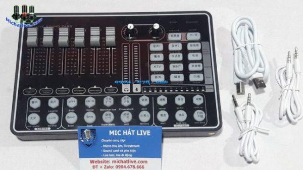 Bảng giá Sound card H9,K9 có bluetooth hiệu ứng âm thanh thế hệ mới-Chỉnh Âm Chuyên Nghiệp Phong Vũ
