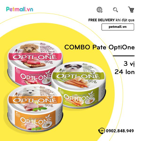 Combo Pate OptiOne 3 Vị - 24 Lon