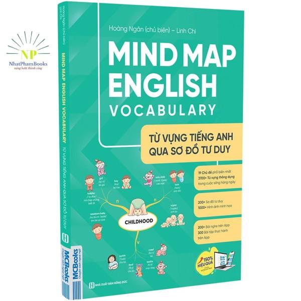 Sách - Mind Map English Vocabulary - Từ Vựng Tiếng Anh Qua Sơ Đồ Tư Duy Tặng Kèm 300 Bài Tập thực Hành