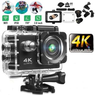 Camera Hành Trình 4K Sports Ultra HD DV , Camera Hành Trình Gắn Mũ Bảo Hiểm , Camera phượt thể thao kết nối Wifi chống nước, chống rung cho hình ảnh sắc nét thumbnail