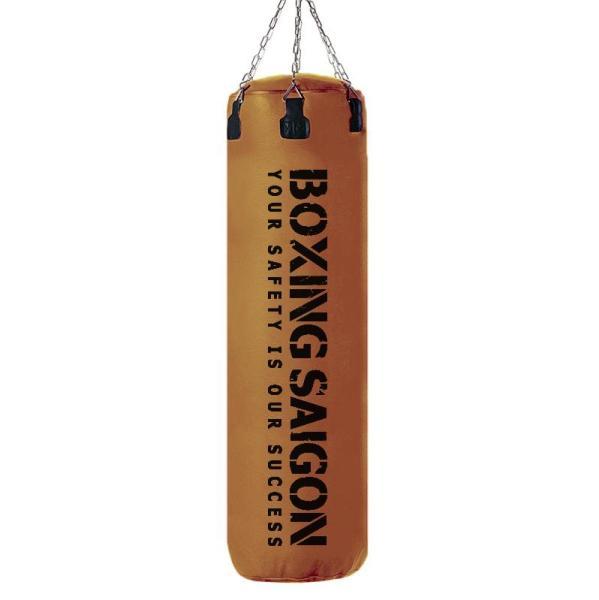 Bao cát đấm bốc Boxing Saigon 1m2 dây xích - Nâu [ TẶNG KÈM MÓC TREO TRỊ GIÁ 250K ]