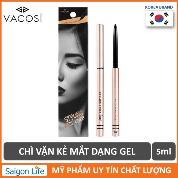 Chì Vặn Kẻ Mắt Dạng Gel Vacosi Styling Twist Liner 5ml (Đen) giá rẻ