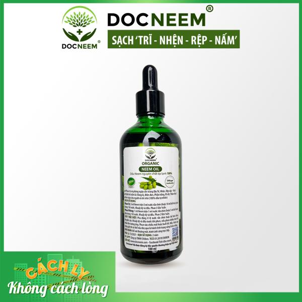 Dầu neem hữu cơ DOCNEEM phòng diệt sâu bệnh hoa hồng, phong lan, cây cảnh, dầu neem oil nguyên chất ép lạnh 100ml