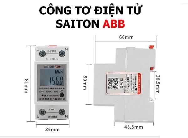 Bảng giá Công tơ điện tử SAITON ABB 65A đơn năng