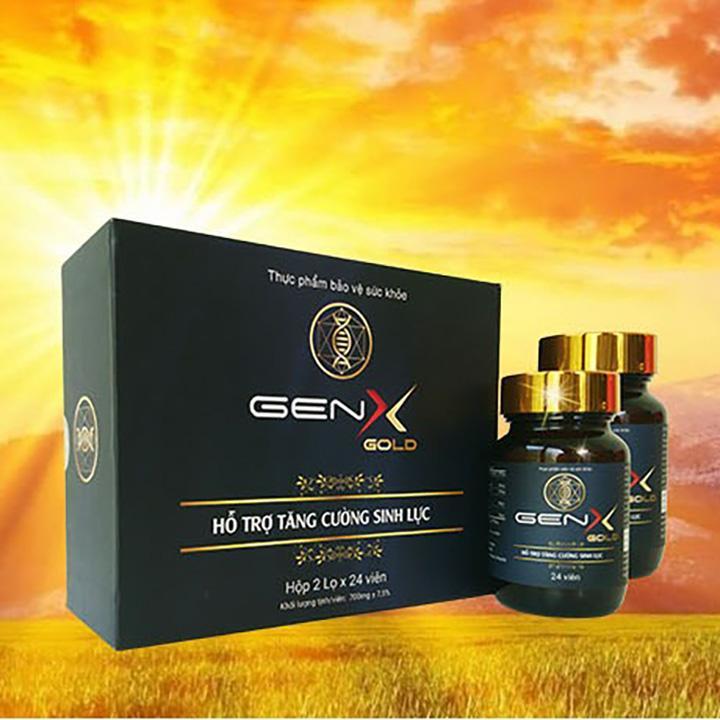 [COMBO 2 HỘP] GEN X GOLD Viên uống tăng cường sinh lý nam - 2 hộp x 24 viên cao cấp